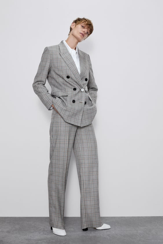 Straight Fit Plaid Pants View All Pants Woman by Zara