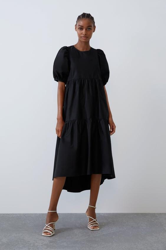 Asymmetrisches Popelinkleid Alles Anzeigen Kleider Damen by Zara