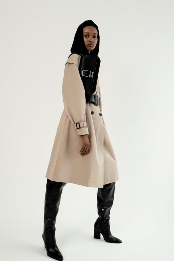 Belted Double Breasted Trench Coat  New Inwoman by Zara