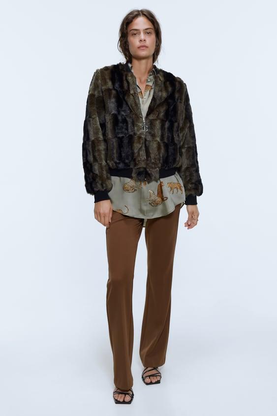 faux-fur-bomber-jacket by zara