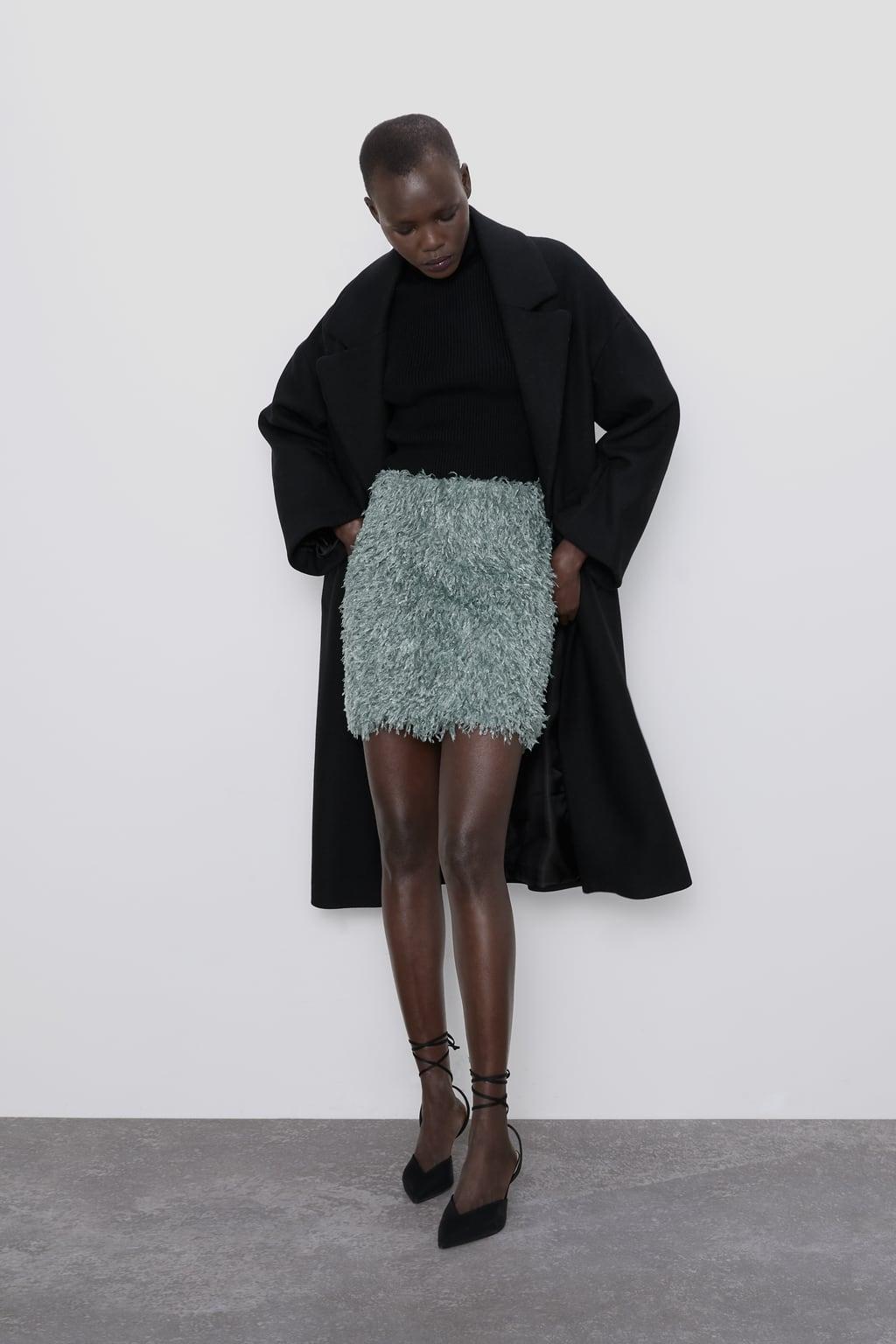 Immagine 1 di MINIGONNA EFFETTO PIUME di Zara
