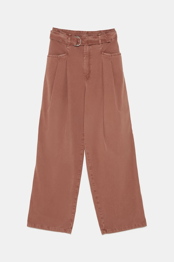 97d73d300a ZW PREMIUM RAY PLEATED HIGH WAIST JEANS IN DUSTY ROSE