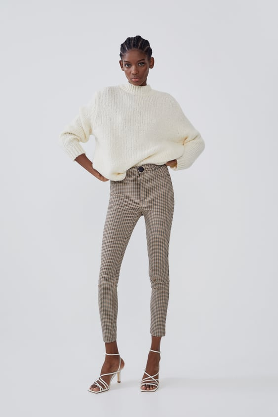 High Waisted Plaid Leggingsnew In Trf by Zara