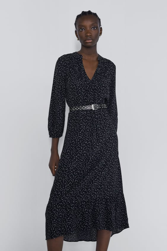 78c0bcfda2 DRESS WITH ANIMAL PRINT PIPED SEAMS