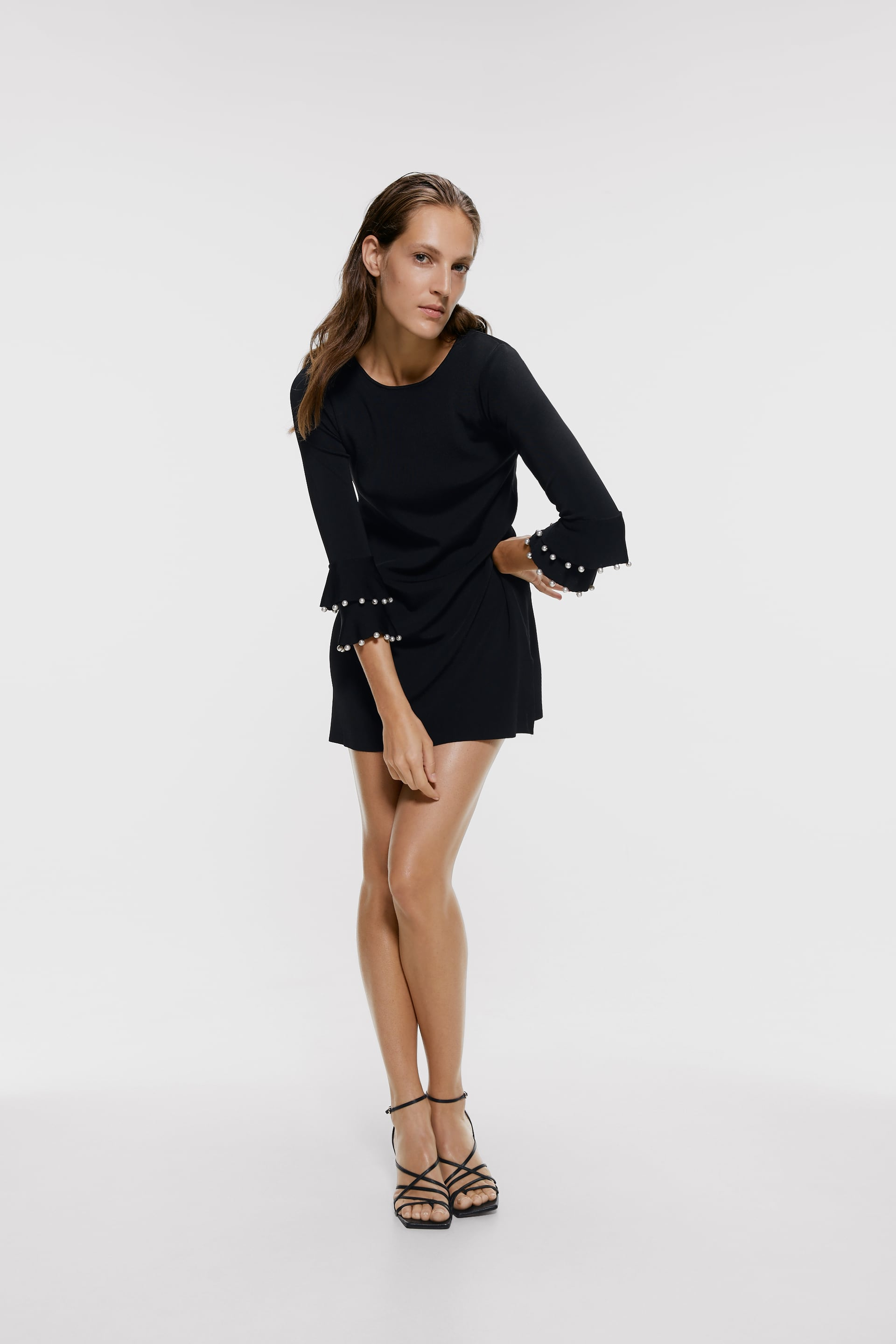 Dress With Beading At Sleeves  View All Dresses Woman by Zara