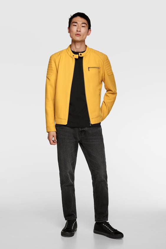 6aa950baa Men's Faux Leather Jackets | New Collection Online | ZARA United Kingdom