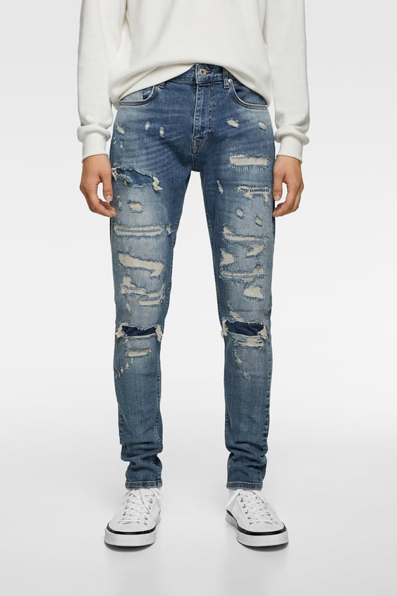 e5005626 RIPPED SKINNY JEANS - Available in more colours