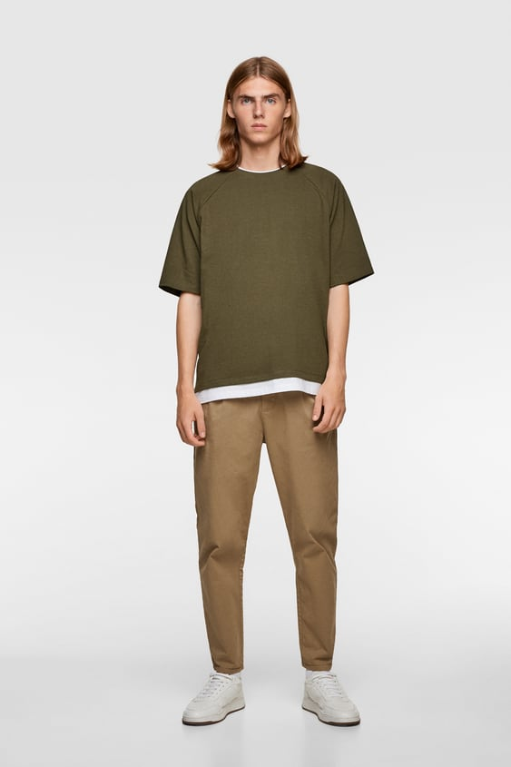 Oversized T Shirt With Contrast Trim View All T Shirts Man by Zara