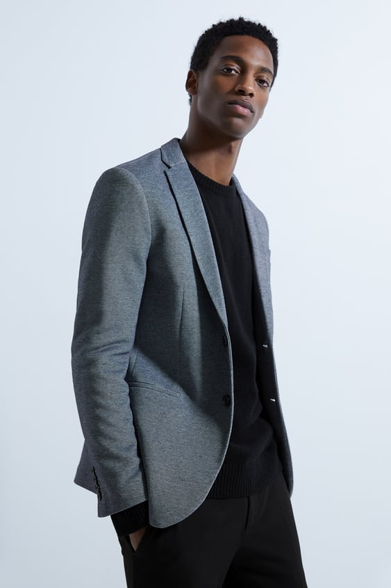 978084e22d2 BASIC TEXTURED BLAZER - Available in more colours
