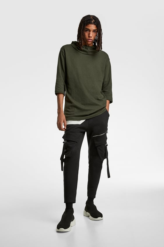 Cargo Pants With Ties  Joggers Trousers Man by Zara