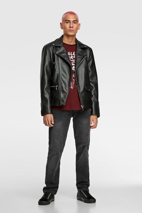 57d8c68602 Men's Faux Leather Jackets | New Collection Online | ZARA United Kingdom