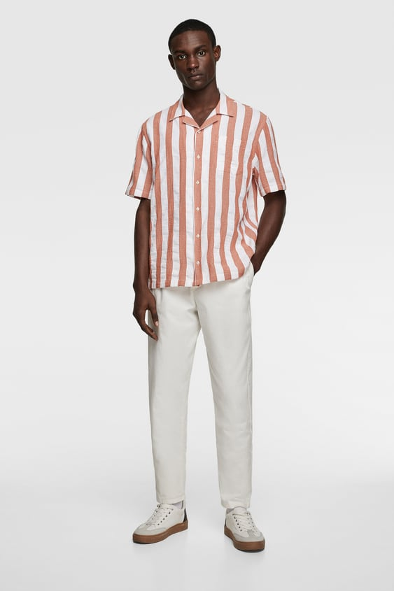 85280f2f99 Men's Striped Shirts | New Collection Online | ZARA United States