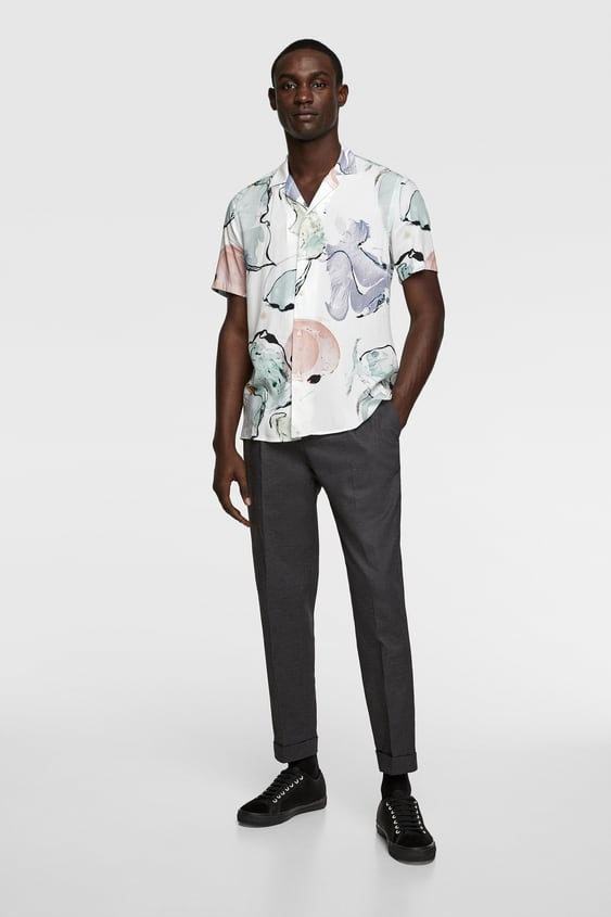 2a3f80ba23 Men's Printed Shirts | New Collection Online | ZARA United States