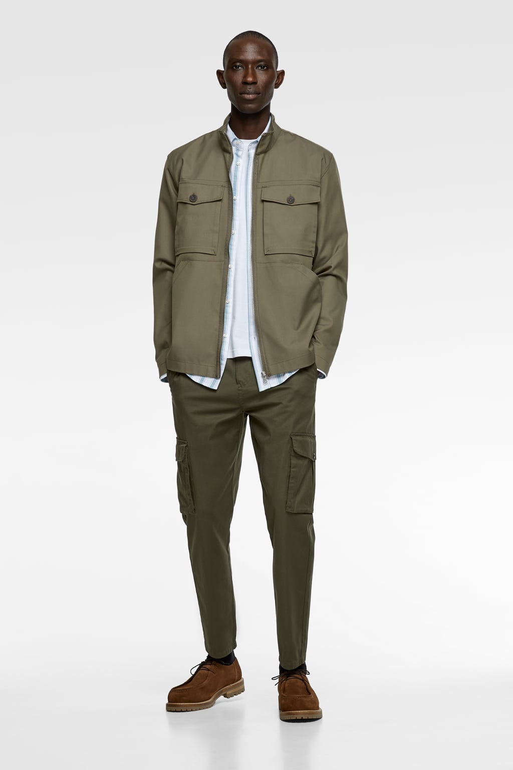 Slim Cargo Pants View All Trousers Man by Zara
