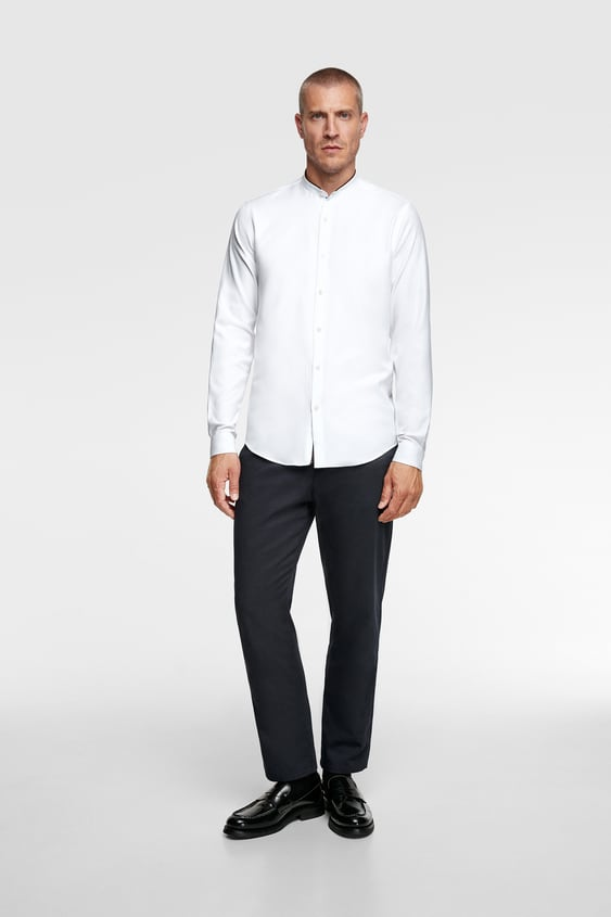 ec30857fd5 TEXTURED SHIRT WITH CONTRAST DETAIL