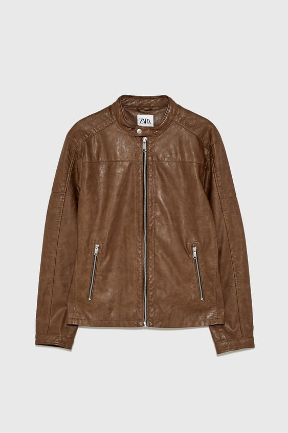a5caf987b Men's Leather Jackets | New Collection Online | ZARA South Africa
