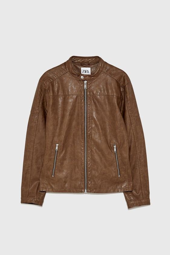 0c8816a87 Men's Leather Jackets | New Collection Online | ZARA Australia