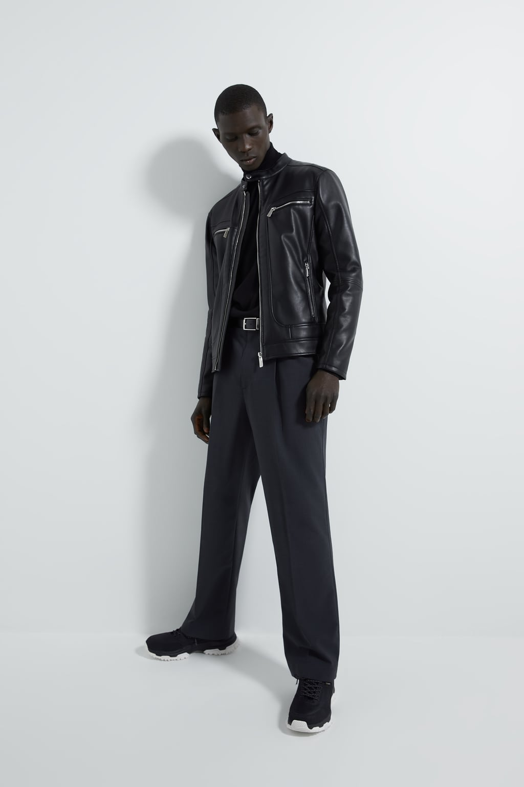 Image 1 of FAUX LEATHER BIKER JACKET from Zara