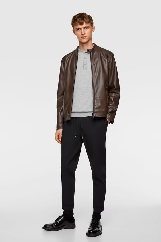 bcaa30c0 Men's Leather Jackets | New Collection Online | ZARA South Africa