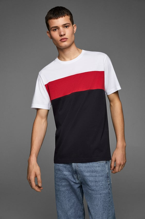 5acbf092 COLOR BLOCK T-SHIRT - Item available in more colors