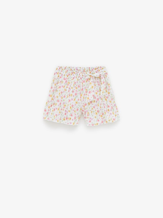 584bcdd9d6054 PLEATED PRINTED BERMUDA SHORTS - SHORTS-GIRL | 5 - 14 yrs-KIDS ...