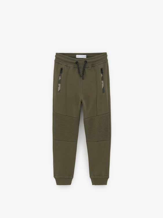 2b2ee4d7 CONTRASTING PLUSH JERSEY TROUSERS
