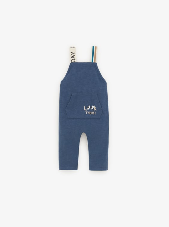 Overalls With Straps And Slogan  Leggings by Zara