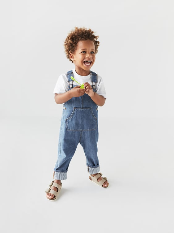 Lined Denim Overalls  Jeansbaby Boy by Zara