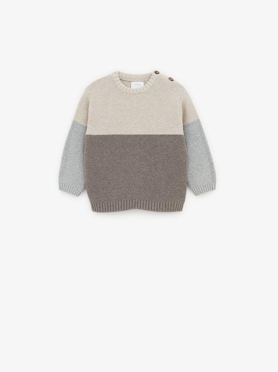 Color Block Sweater  Sweaters Knitwear Baby Boy by Zara
