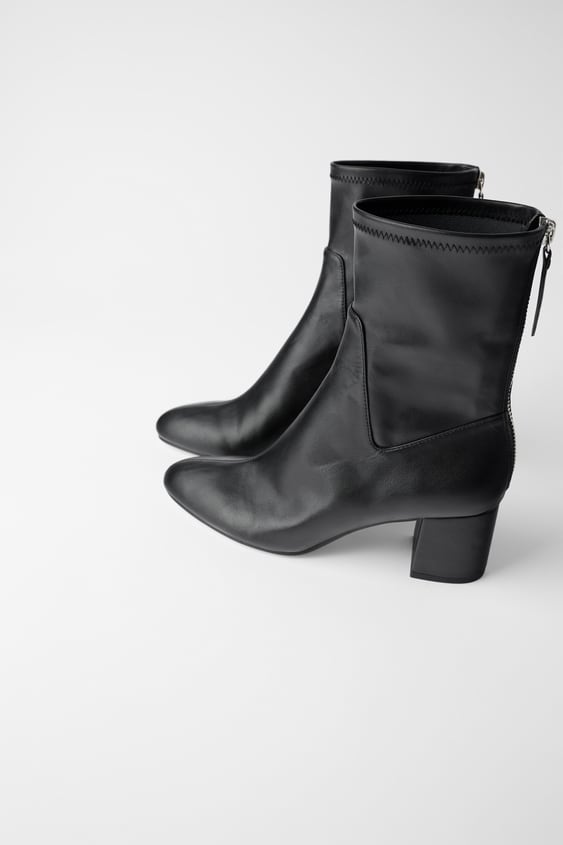 discount sale latest discount recognized brands HEELED ANKLE BOOTS WITH ZIP BACK - -   ZARA Australia