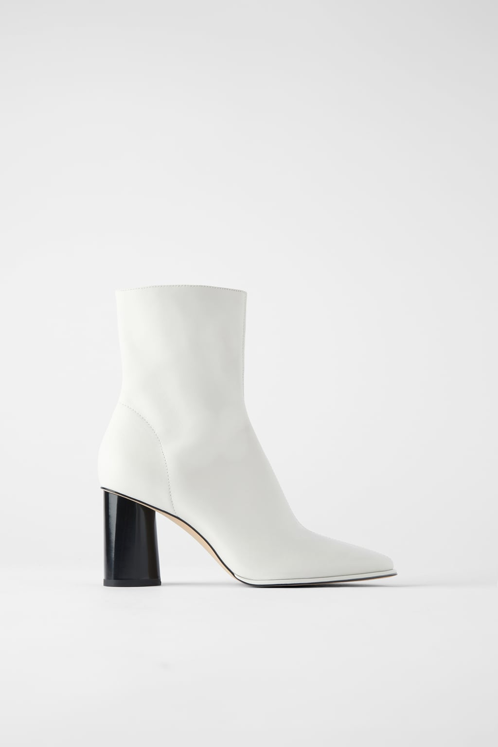 Image 2 of LEATHER HIGH HEEL ANKLE BOOTS WITH WELT from Zara