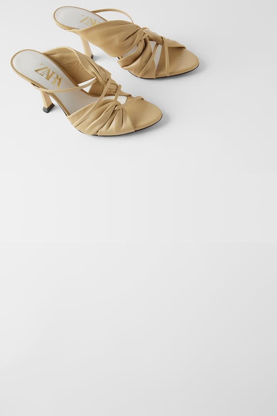 leather-high-heel-sandals-with-gathering--view-allshoes-woman by zara