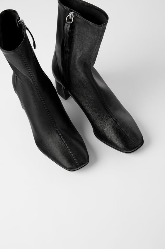 fashionable and attractive package top-rated official best supplier SOFT LEATHER HIGH-HEEL ANKLE BOOTS