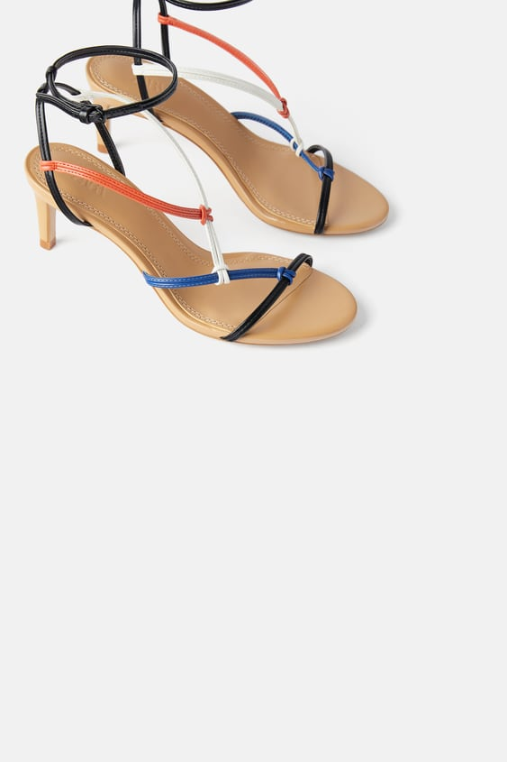 multicolored-mid--heeled-strappy-sandalssandals-shoes-woman by zara