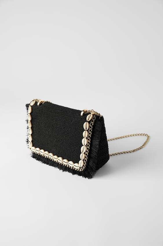 Woven Crossbody Bag With Ss