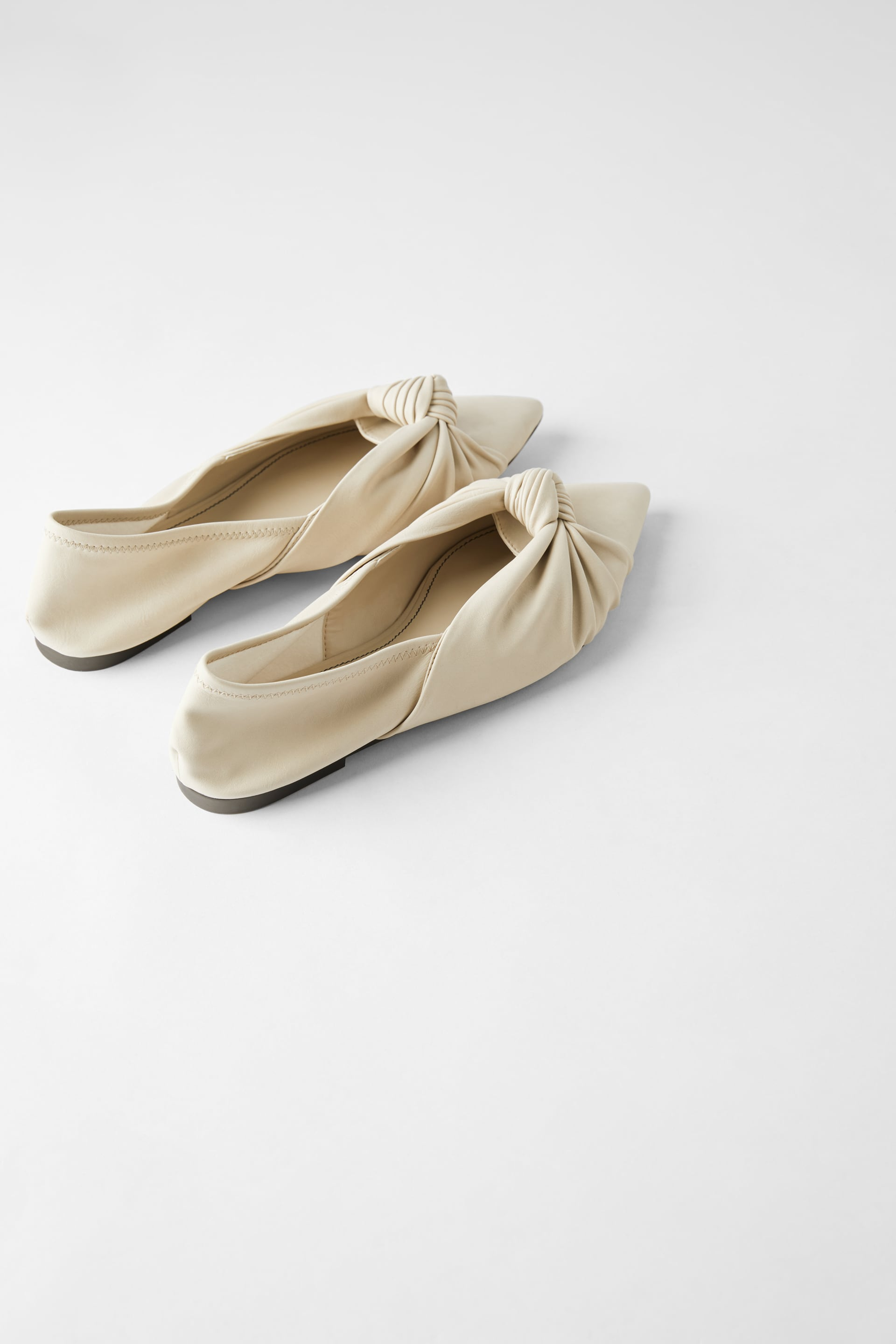 Knotted Soft Ballerinas View All Shoes Woman by Zara