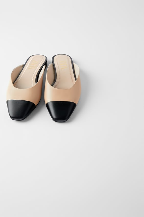 Low Heeled Leather Mules Shoeswoman Shoes & Bags by Zara