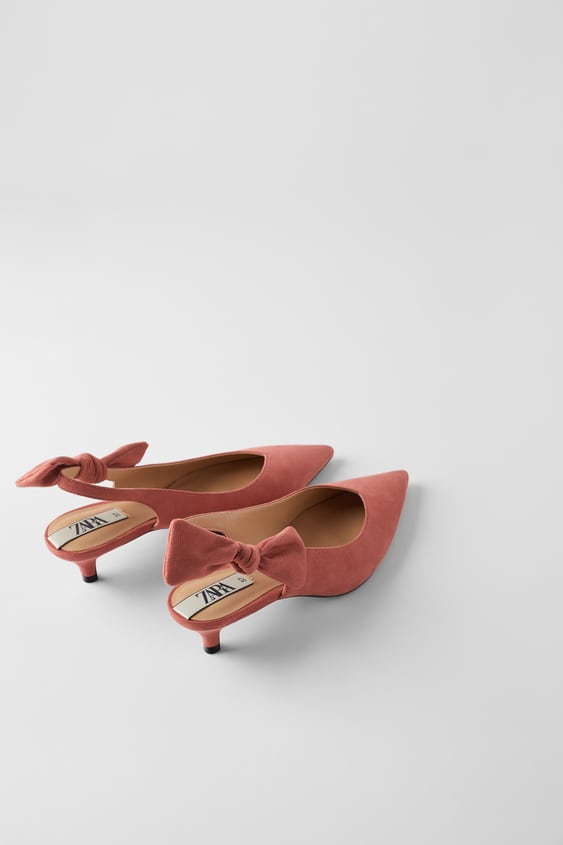 Slingback Heels With Bow  New Intrf by Zara