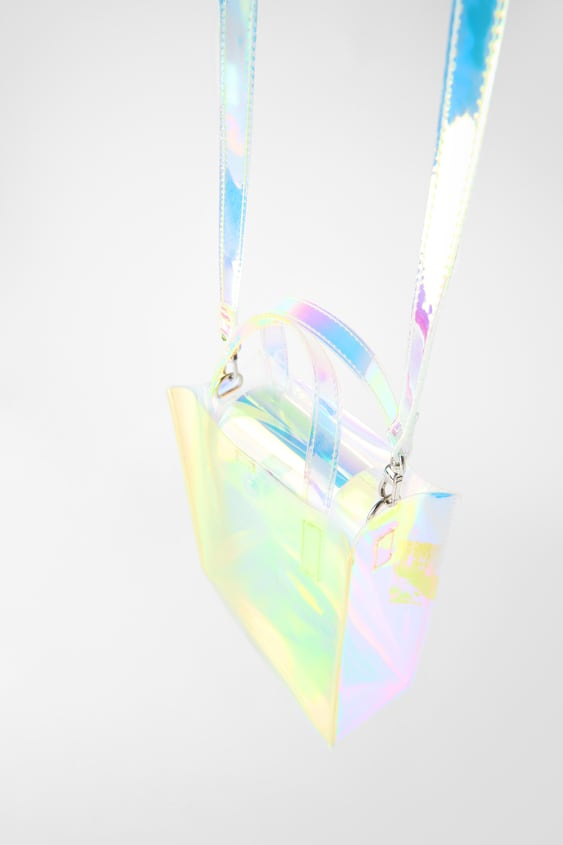 Iridescent Mini Shopper Bag View All Bags Woman by Zara