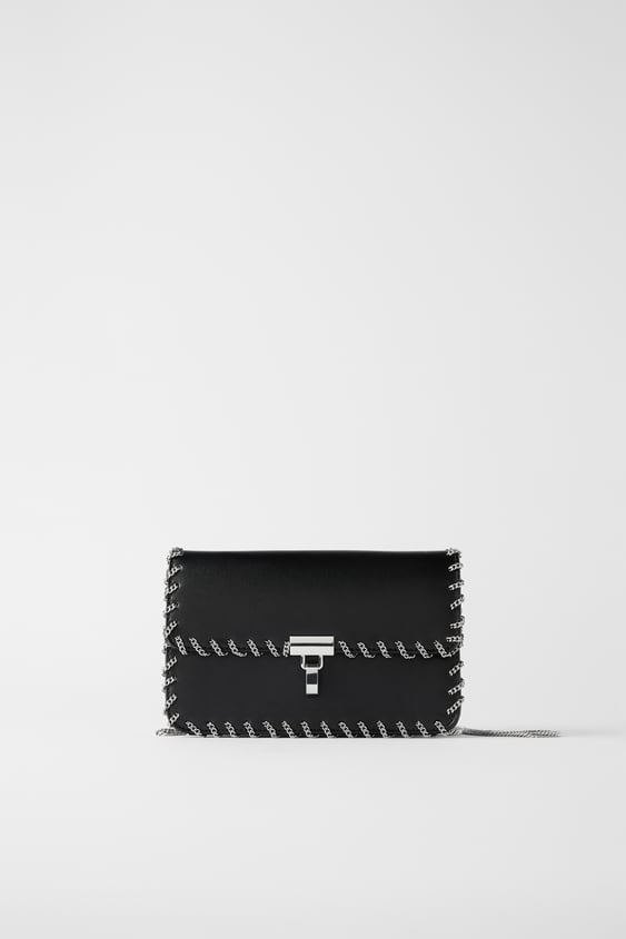 Crossbody Bag With Chain Strap Womanshoes & Bags New In by Zara