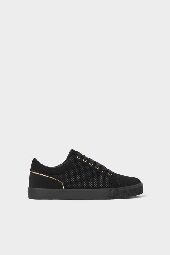 Black Textured Sneakers  Shoes Man Shoes & Bags by Zara