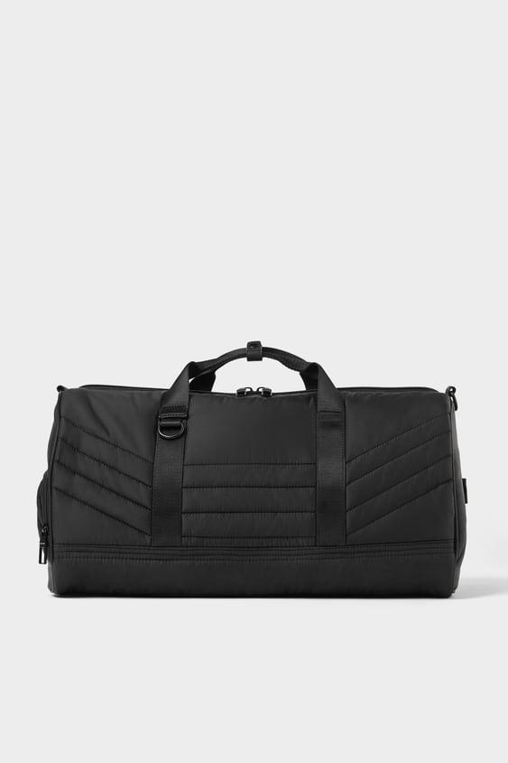 Black Soft Bowling Bag by Zara