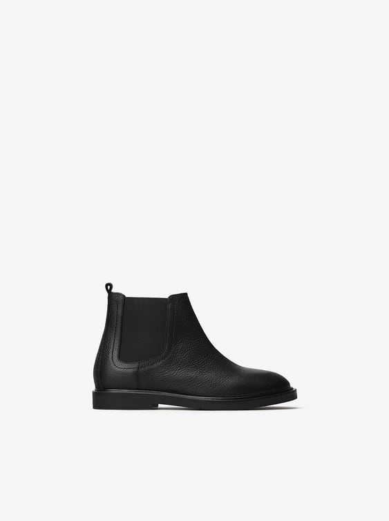 leather-ankle-boots-with-goring by zara