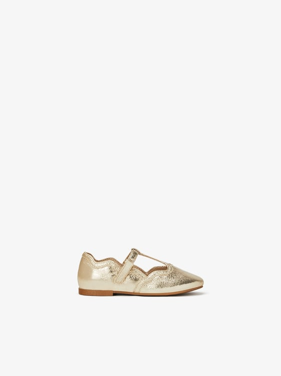 metallic-ballet-flats--baby-girlshoes-kids-shoes-&-bags by zara