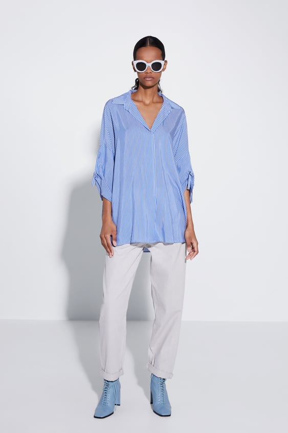 6c947e435d SHIRT WITH TABBED SLEEVES
