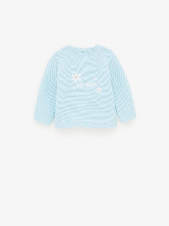 fa5cbcdb00 EMBROIDERED FLOWER SWEATER