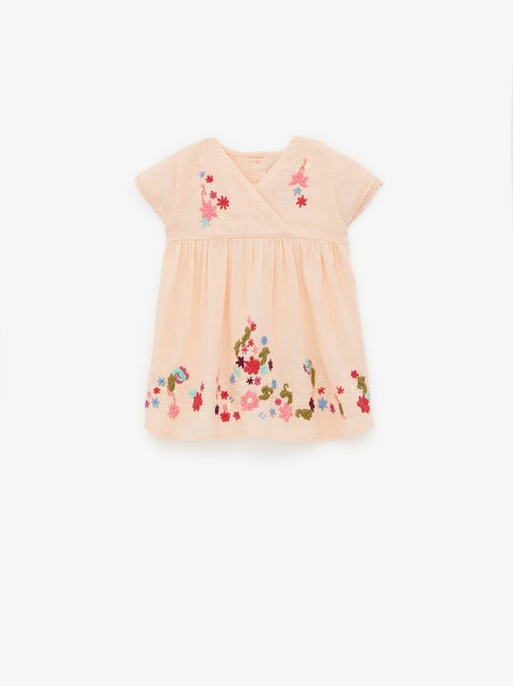 00d9bcff1a FLORAL EMBROIDERY DRESS