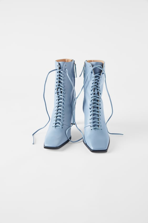 good out x new photos cute cheap LACE-UP LEATHER HIGH HEEL ANKLE BOOTS