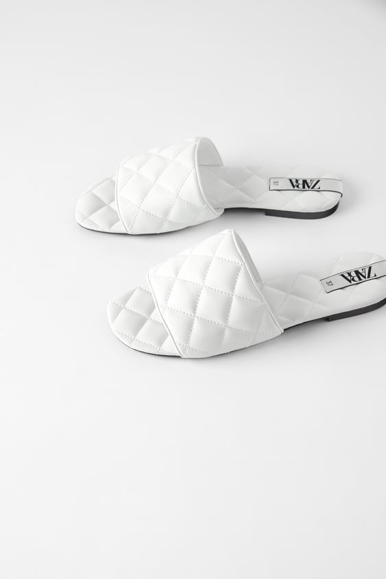 Flat Quilted Sandals With Platform Sole View All Shoes Woman by Zara
