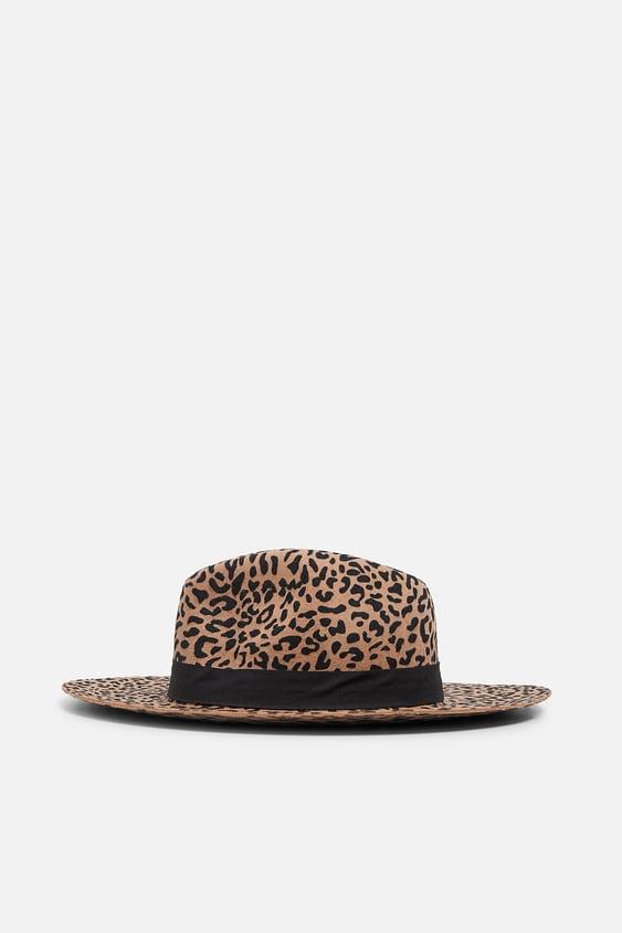 aac0b7f75f3ea Image 1 of LEOPARD PRINT HAT from Zara